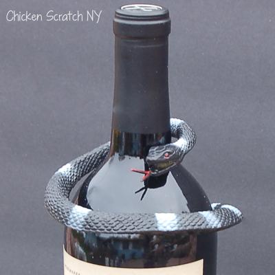 Halloween Wine Bottle Decoration Close Up