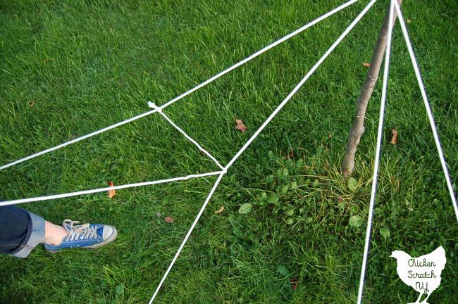diy halloween spider web decoration
