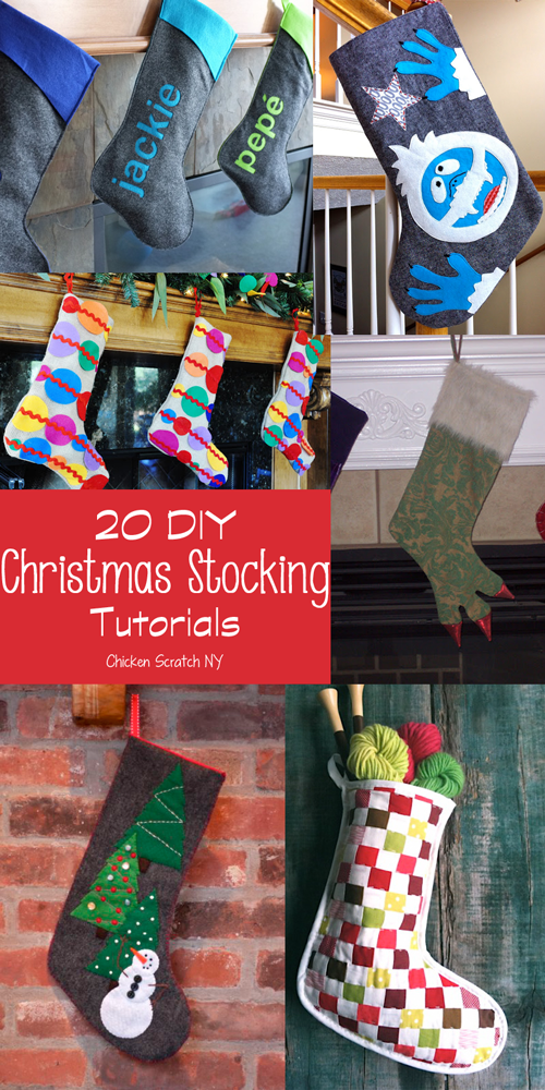 20 do it yourself christmas stocking tutorials
