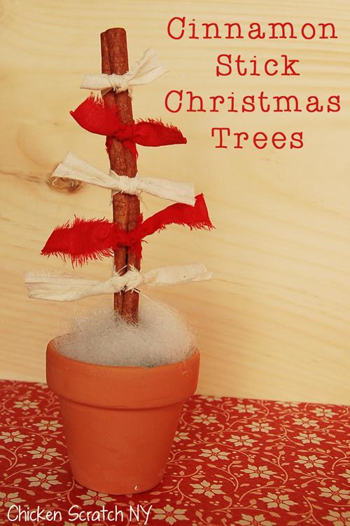 Cinnamon Stick Christmas Trees