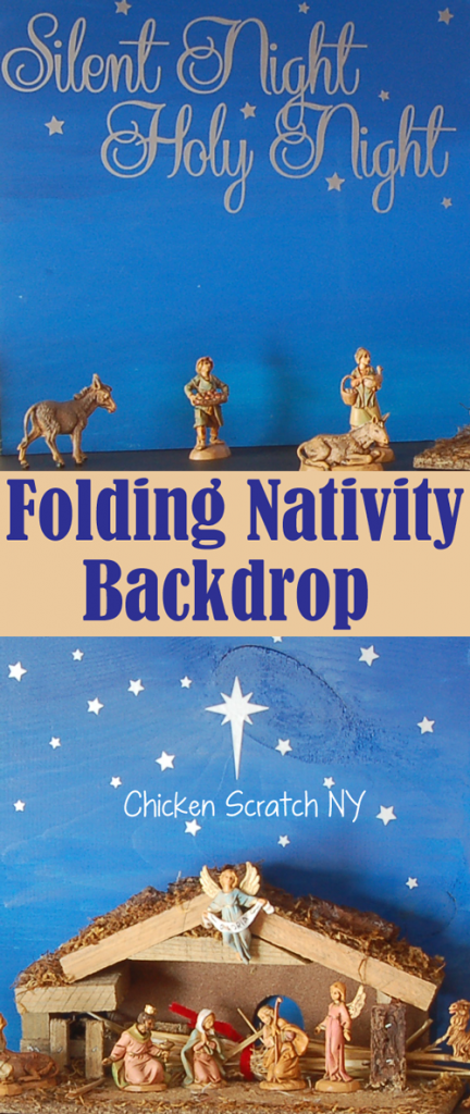 Folding #Nativity Backdrop - Ombre Painted Wood and Vinyl #Christmas Tutorial