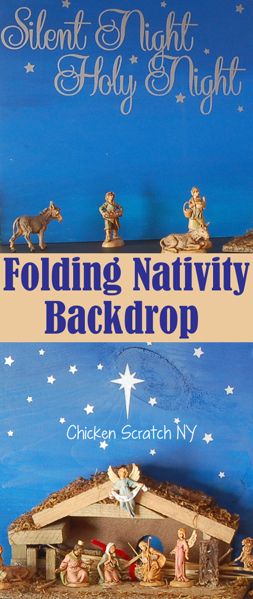 Folding Nativity Backdrop – December Silhouette Challenge