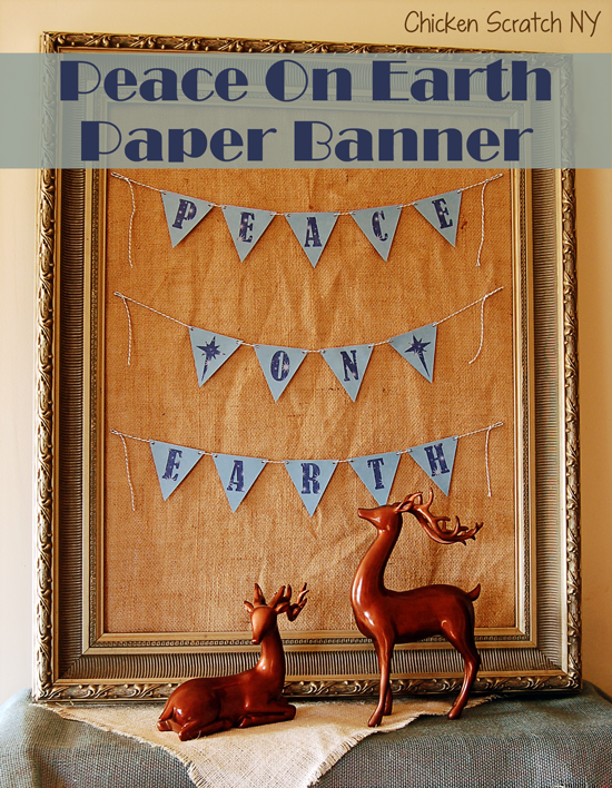 Peace On Earth Paper Banner - #AdhesiveCardStock project