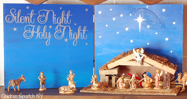 Silent Night Nativity Backdrop