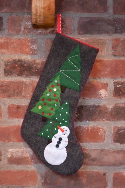 snowman_stocking_finished1_high_res - Christmas Stocking Design Ideas