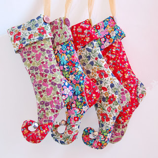 liberty print elf christmas stockings 1a