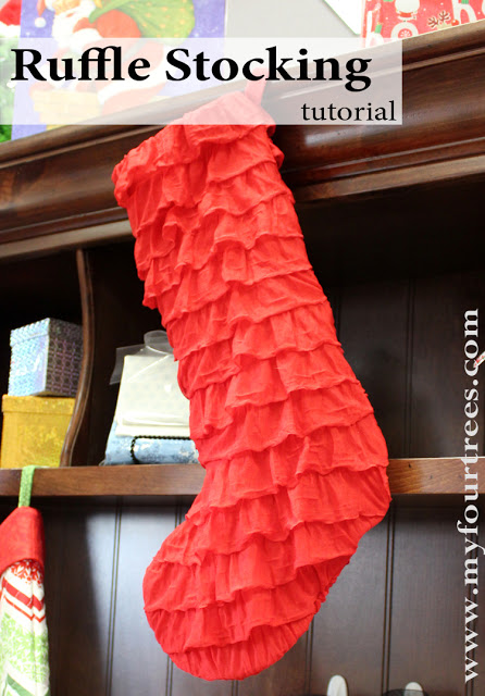 ruffle stocking smaller