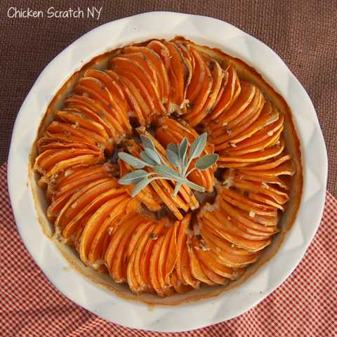 Maple Sage Sweet Potatoes