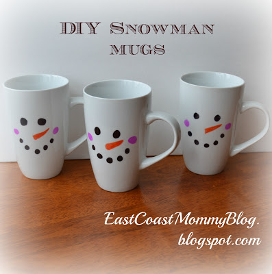 three snowman mugs