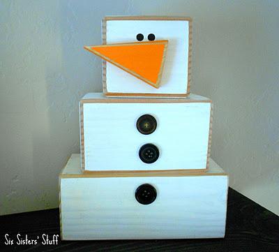 wood 4x4 snowman