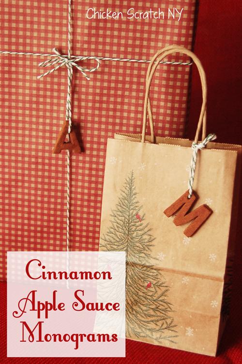 Cinnamon Apple Sauce #Monogram Gift Tags