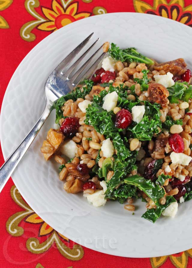 Kale-Farro-Winter-Fruit-Salad
