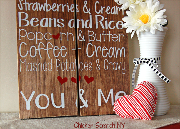 Kitchen Love Subway Art - Quirky & #Romantic Subway Art Perfect For #Valentine's Day