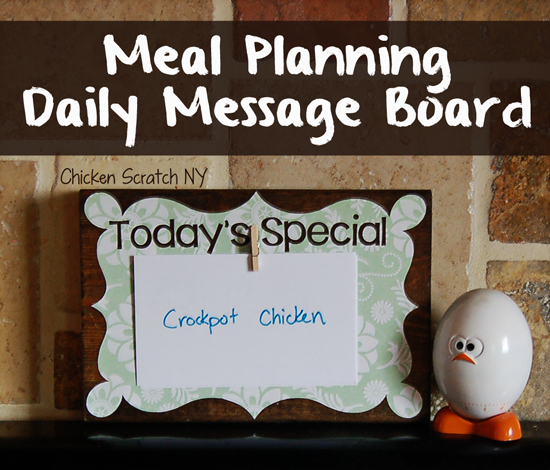Meal Planning Daily Message Board
