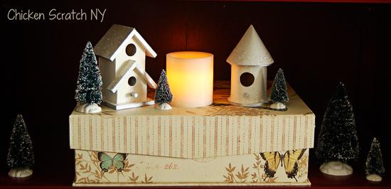 DIY Snow Covered Birdhouses