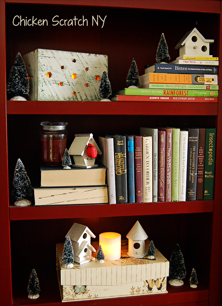 Winter Bookcase
