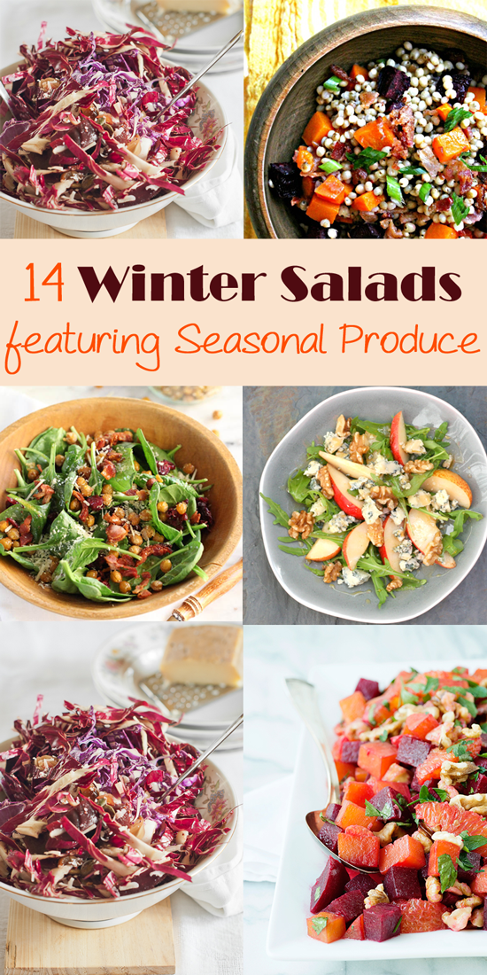 Fill you bowl with the winters best produce for these gorgeous salads