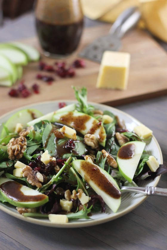Cheddar & Apple Winter Salad with Balsamic Feta Vinaigrette from Bake ...