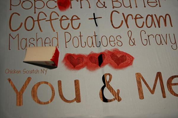Kitchen Love Subway Art Sign