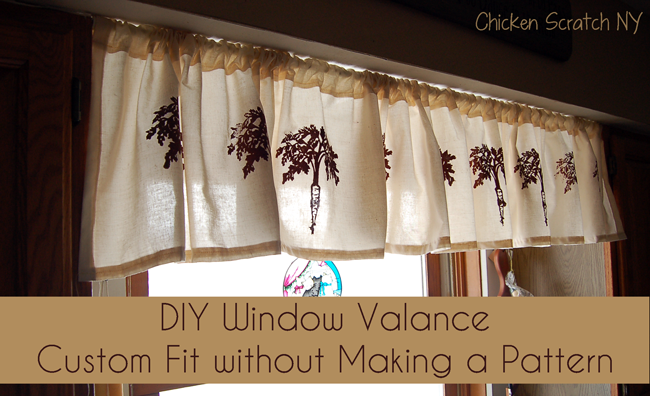 Custom DIY Window Valance