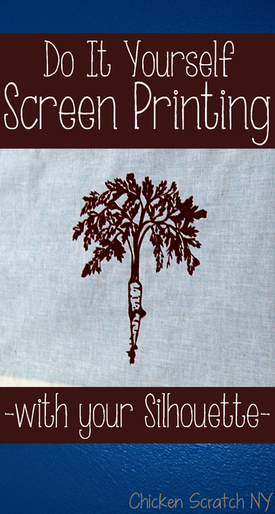 #DIY Screen Printing with you #Silhouette