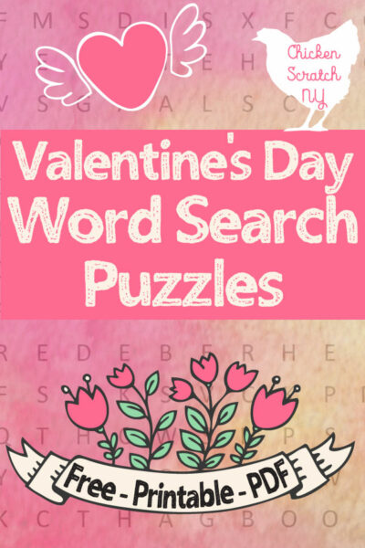 picture about Free Printable Valentine Cards for Adults named Absolutely free Valentines Working day Printable Wordfinds