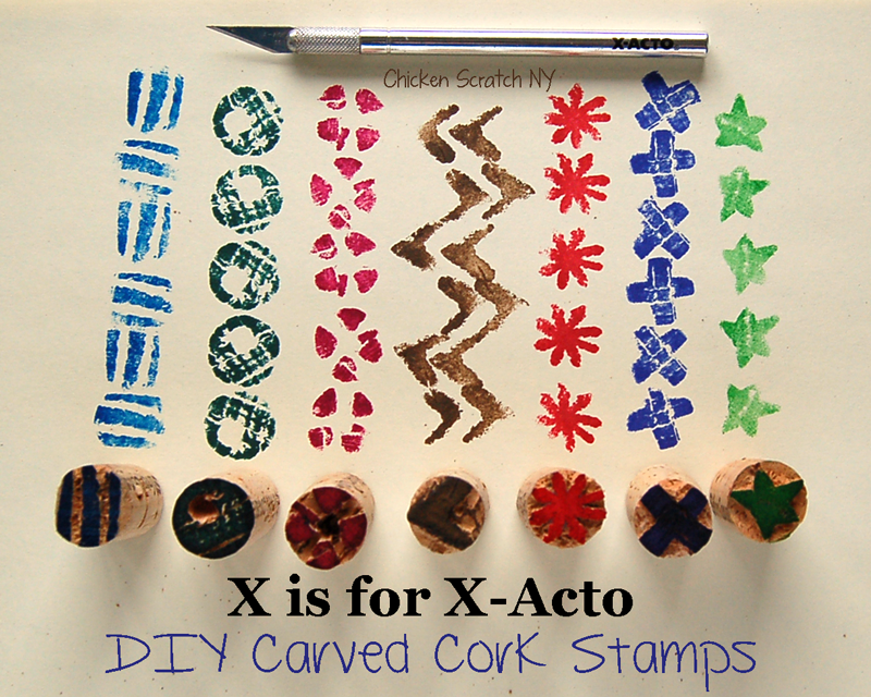 X-acto Knife Cork Stamps
