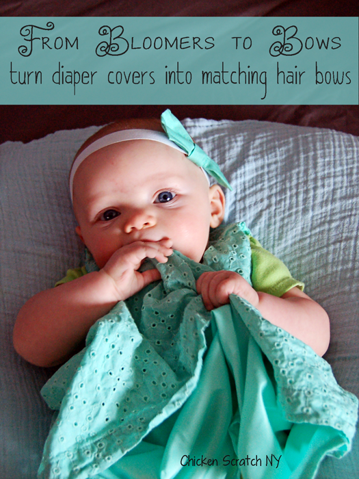 Make hair bows from diaper covers - Beginner level sewing tutorial