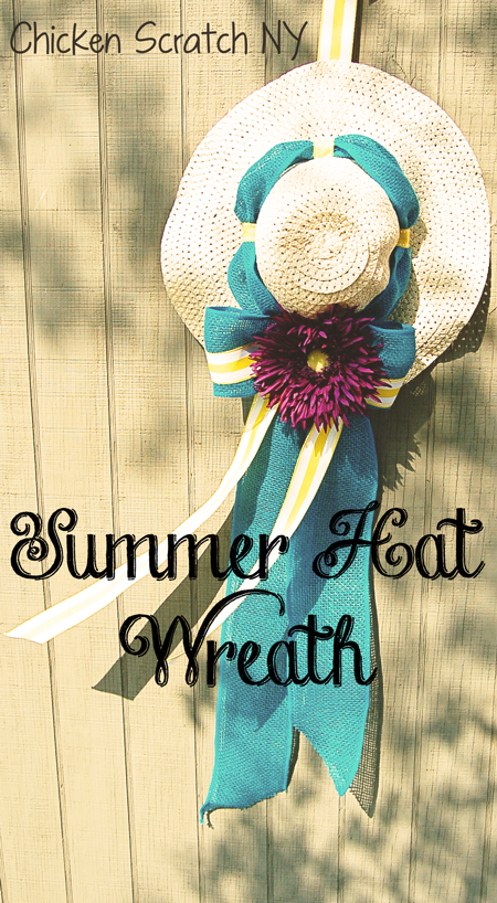 "Summer Hat ""Wreath"" - Brighten up your porch with big bows and big flowers"