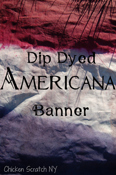 Dip Dyed Americana Banner