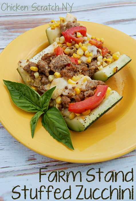 Farm Stand Stuffed Zucchini - make use of over gown zucchini by stuffing it with the best the season has to offer