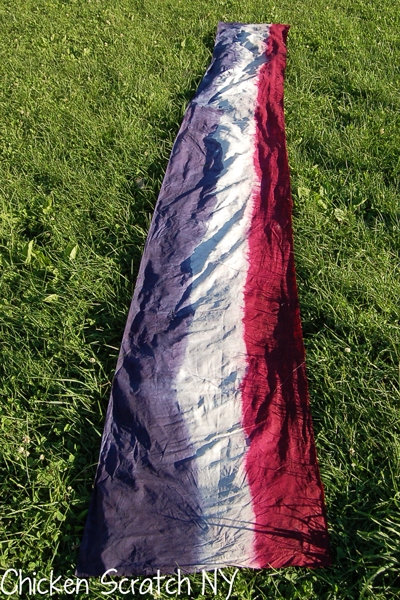 5-ish yards of dyed muslin
