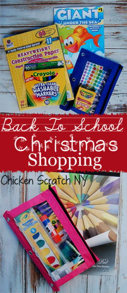 Back to School Christmas Shopping - Double up on your supply shopping and squirrel some away from cheap and easy Christmas gifts or stocking stuffers