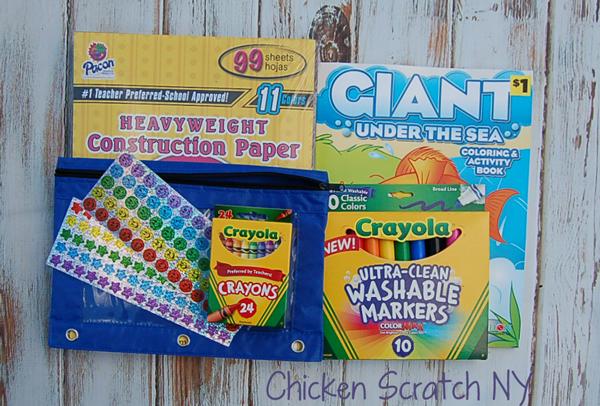 School Shopping for Christmas - Art Supplies for Little Kids