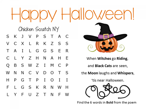 Easy Halloween Word Search {Free + Printable}