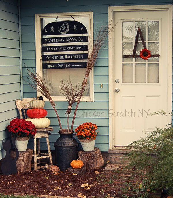 Halloween Entry Way - Witch Hat Wreath Tutorial