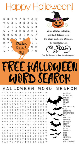 halloween word find, halloween game, printable, puzzle