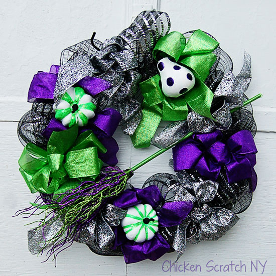 Glittery Witch Wreath
