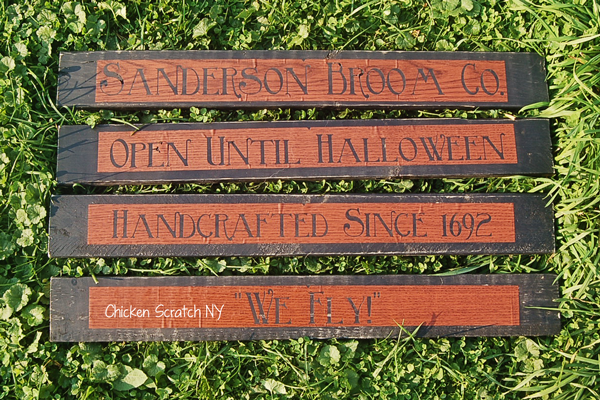 Sanderson Broom Co Sign Stencils