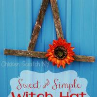 Witch Hat Halloween Wreath