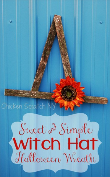 Upcycle an old snow fence into a sweet Halloween Wreath