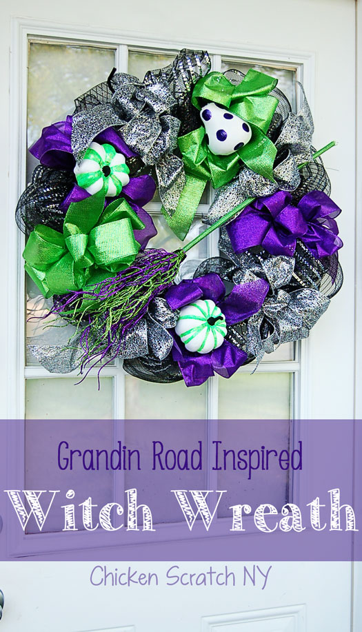 "Halloween Witch Wreath - $31 DIY vs $359 Grandin Rd ""Cast a Spell"" Wreath"