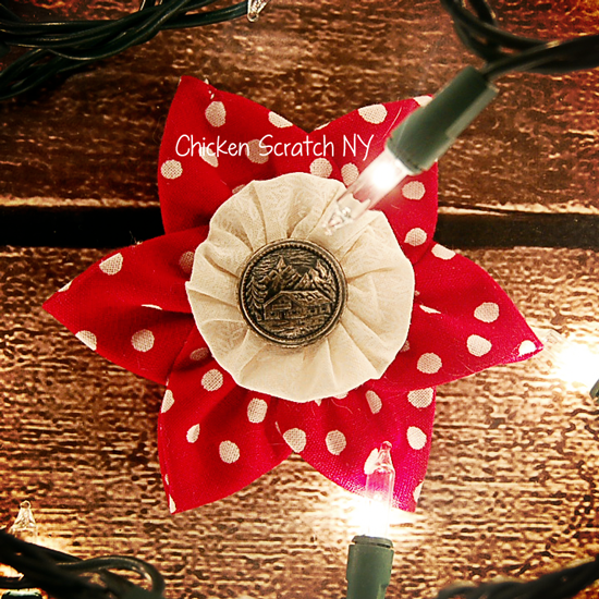 Prairie Point and Yo-yo Fabric Ornaments