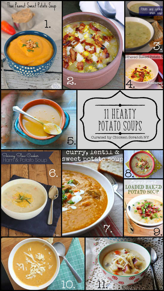 Fill your bowl with one of these hearty soups featuring everyone's favorite tubers