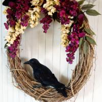 Wicked Wisteria Halloween Wreath