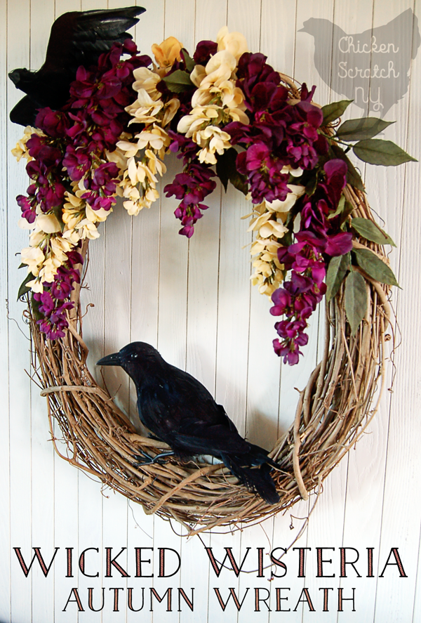 Wicked Wisteria Halloween Wreath