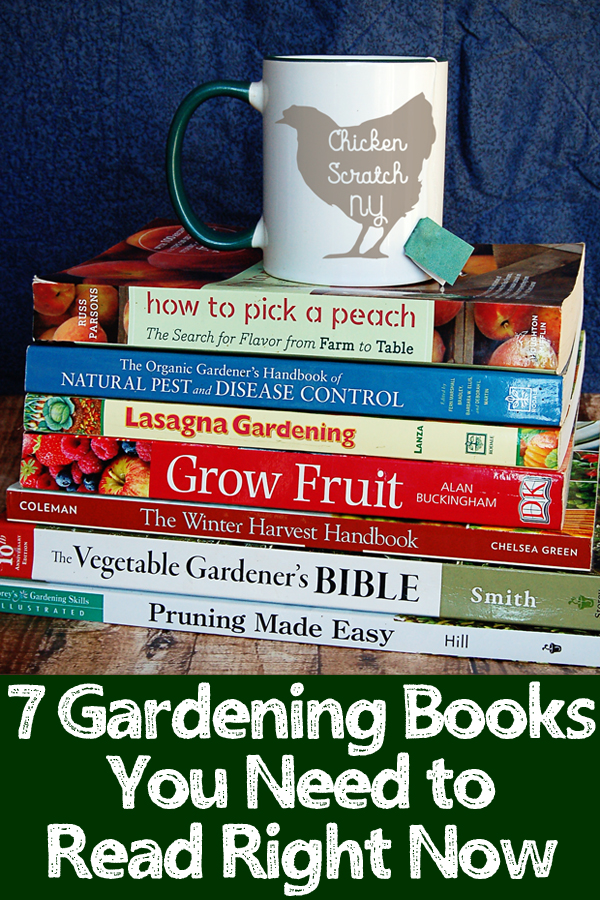 stack of the best gardening books