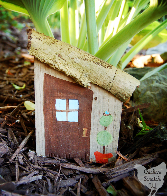 Turn scrap wood, paint and nature walk finds into a cheerful village of Garden Fairy Houses in an afternoon