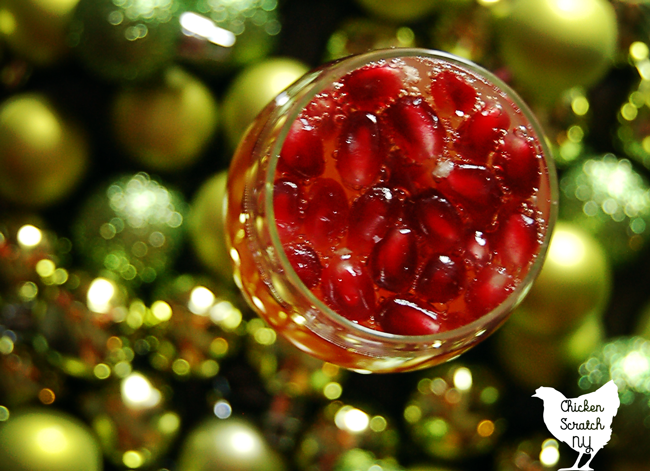 Sip a glass of Sparkling Pomegranate Apple Cider this holiday season. Mix up the pomegranate cider ahead of time and top with champagne for a bubbly treat