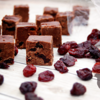 Dark Chocolate Cherry Fudge